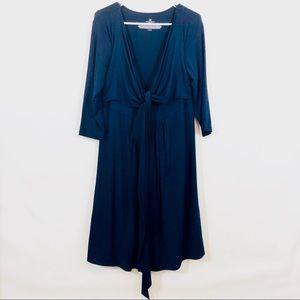 ROSIE POPE MATERNITY WRAP DRESS - L
